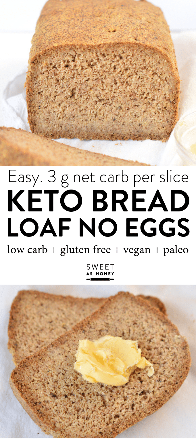 Keto bread loaf No Eggs, Low Carb with coconut flour, almond