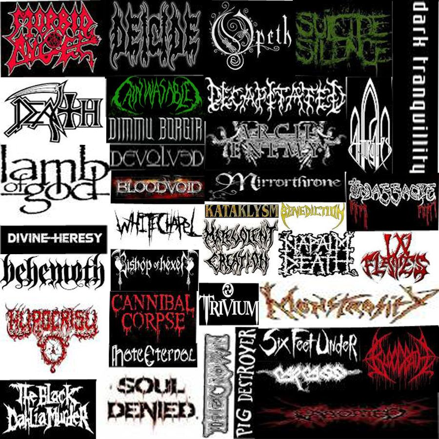 Death Metal Bands | my favorite death metal bands by Arcticfoxling