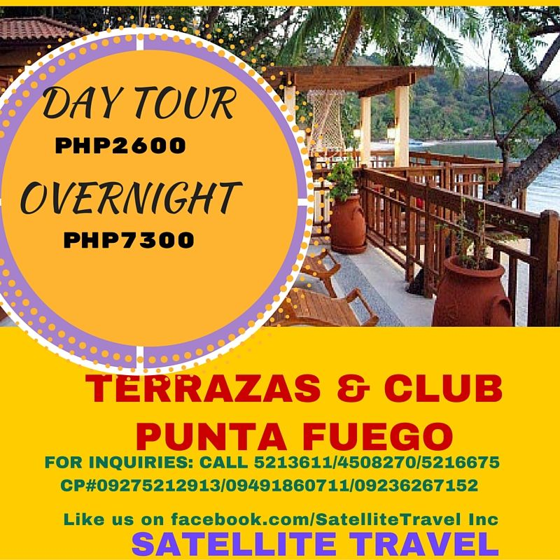 Club Punta Fuego Day Tour Overnight For Inquiries Call