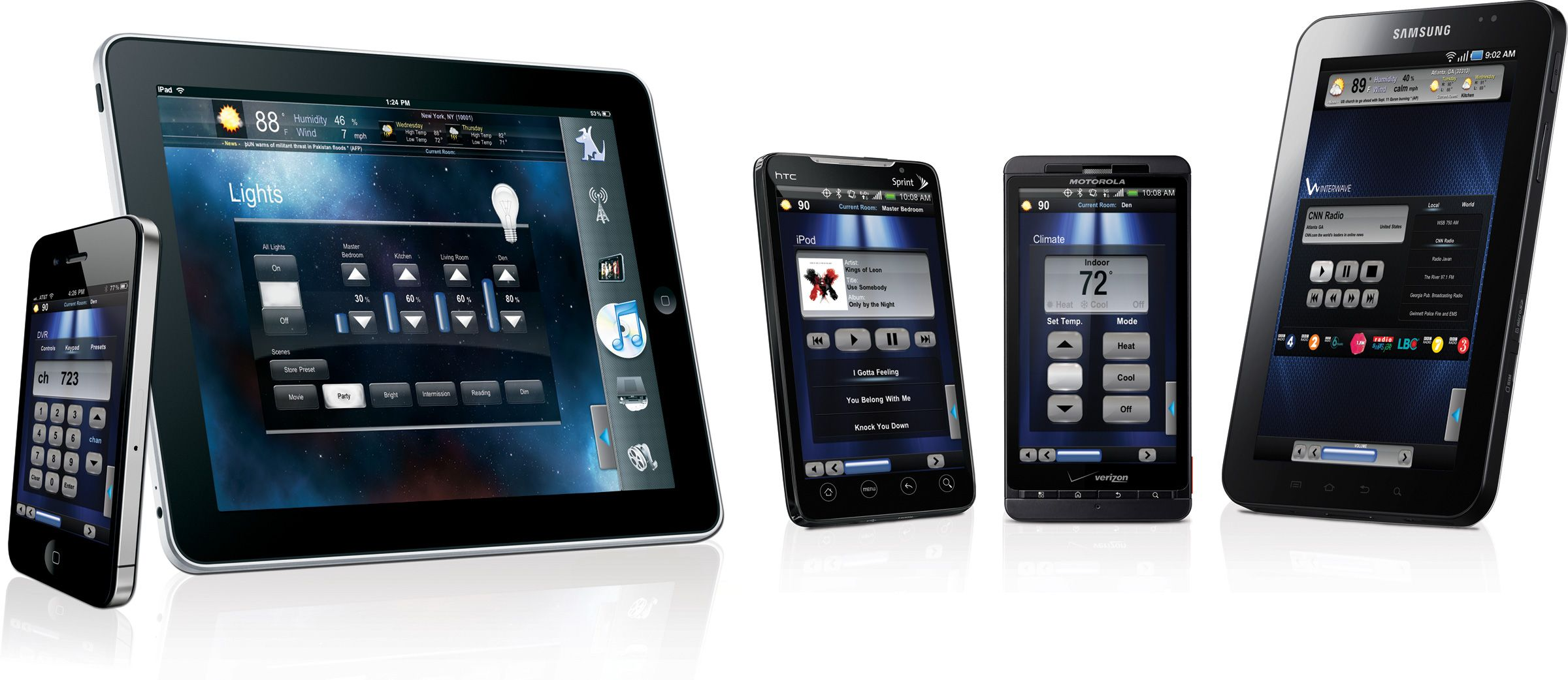 Crestron Control Interfaces Home Security Companies Home Security Systems Home Automation