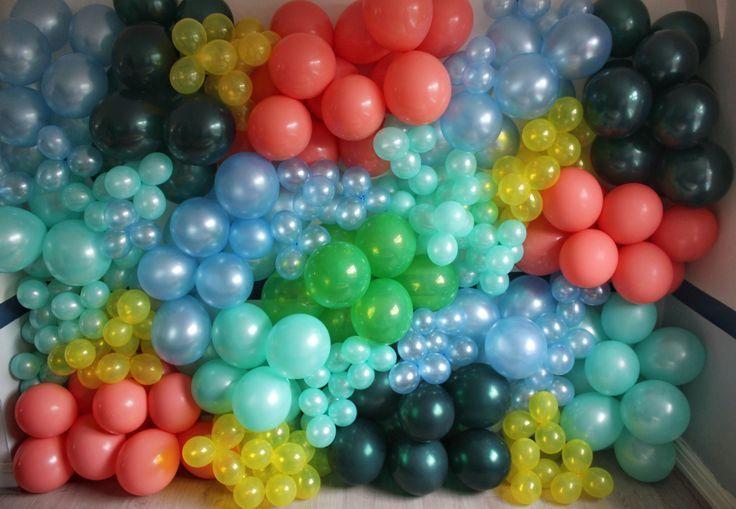 Organic Tropical Themed Balloon Wall - -