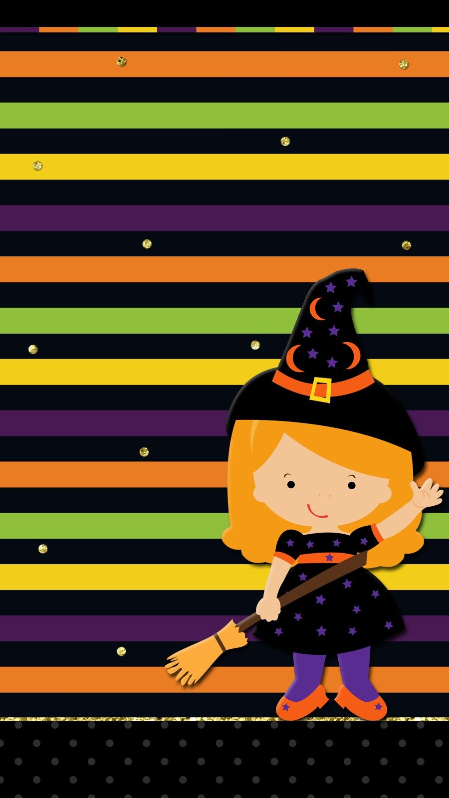 Halloween Witch Wallpaper Iphone Android Cute Halloween Wallpaper Halloween Holiday Wallpaper