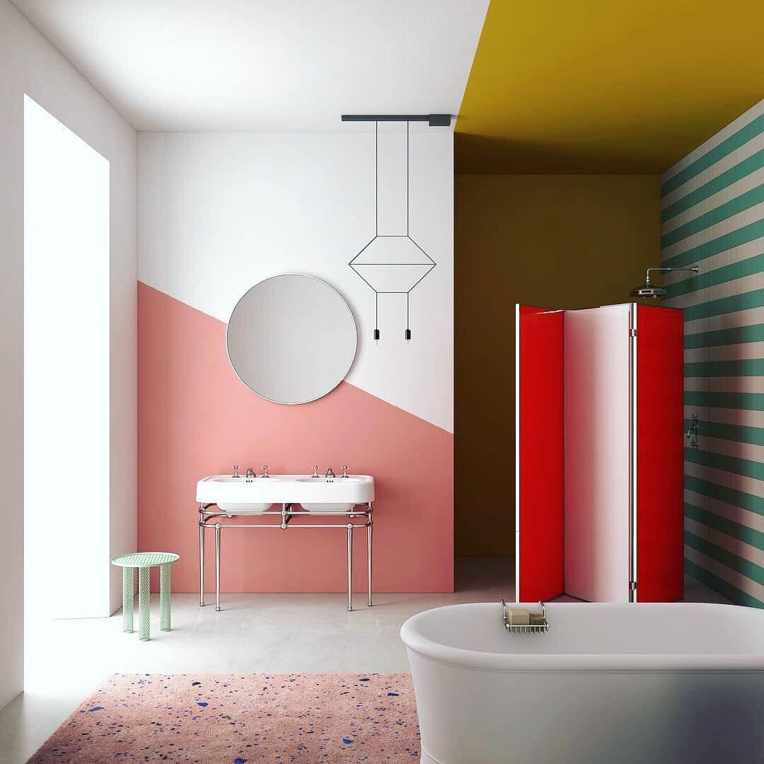 843 Curtidas 7 Comentarios Vibia Vibialight No Instagram Bathroom Envy Captured By Li Bathroom Trends Bathroom Paint Colors Best Bathroom Paint Colors