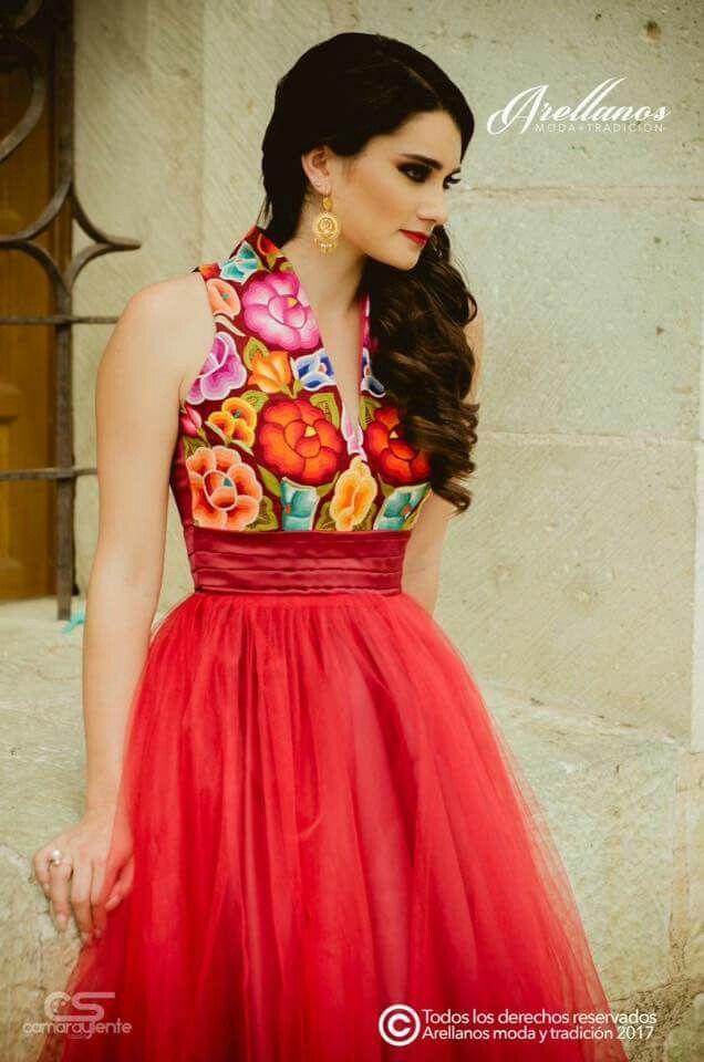 Pin De Iris Garcia En Mexican Fashion Dress Modelos