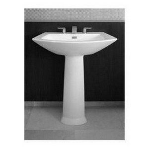 Toto Soiree Pedestal Vitreous China Bathroom Sink Lpt962 01 Cotton