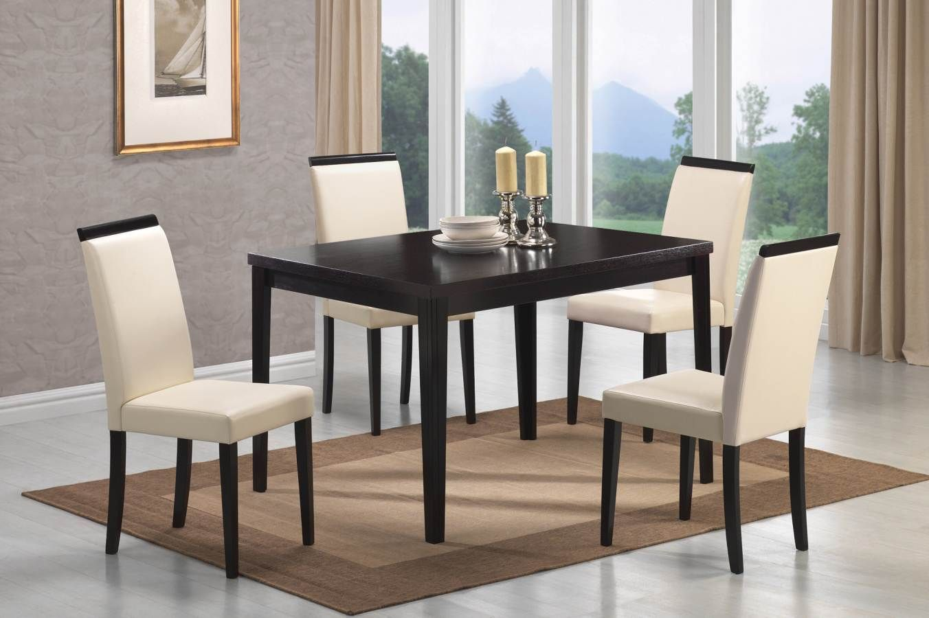 34++ Modern dining table set with bench Best