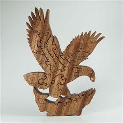 Eagle Wooden Puzzle - Sapele. $41, via Etsy
