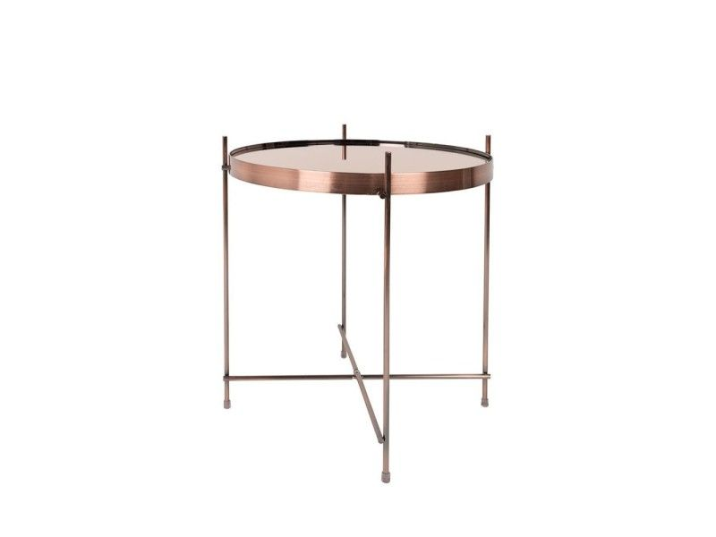 Table basse design ronde cupid small zuiver - couleur - cuivre - Conforama Tables De Cuisine