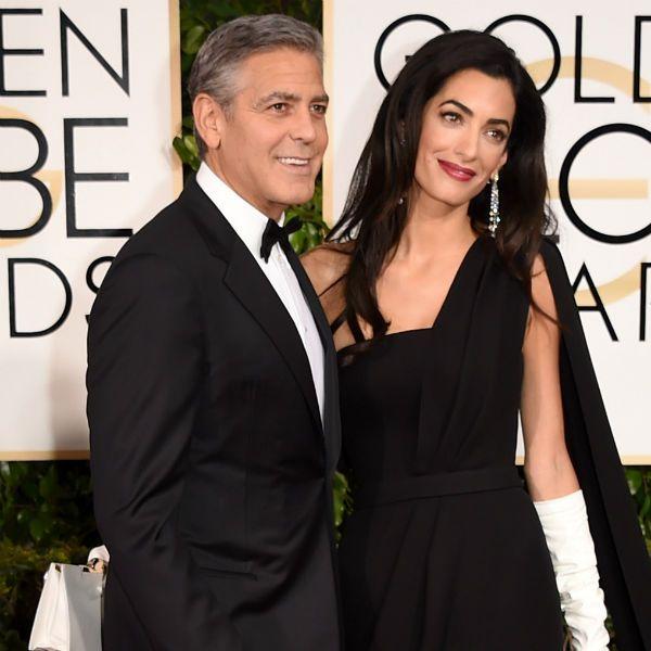 Mr & Mrs Clooney at Golden globes 2015 red carpet | George ...
