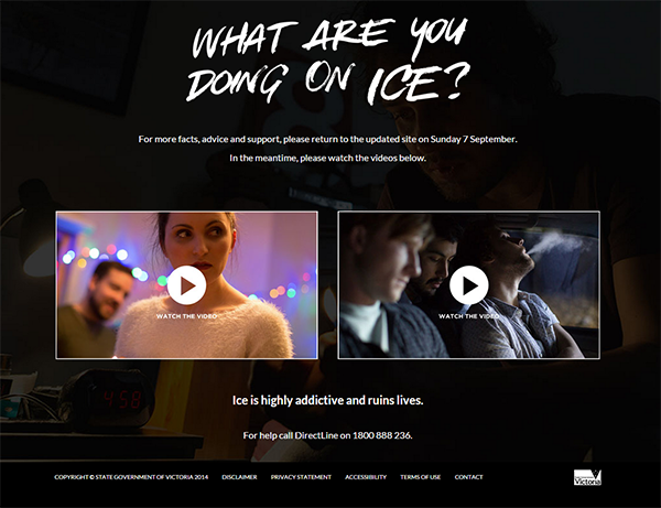 What Are You Doing On Ice Victorian Government Campaign To