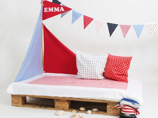 bettsegel segel f r kinderbetten pirat von liebesherz auf little home kinder. Black Bedroom Furniture Sets. Home Design Ideas