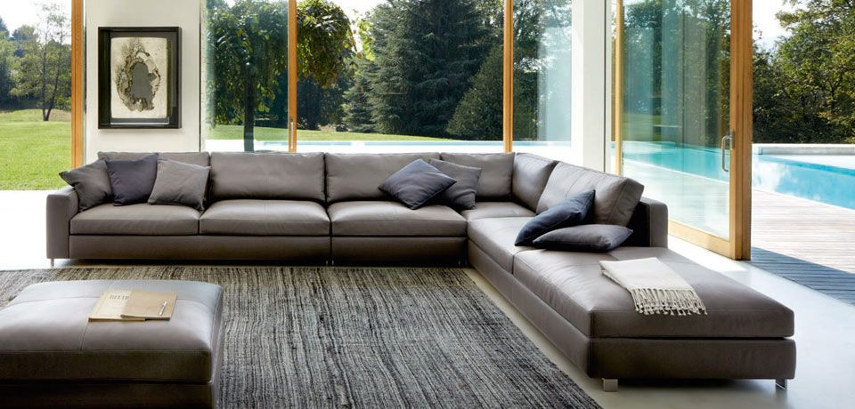 Poltrona Frau leather sectional Modular sofa