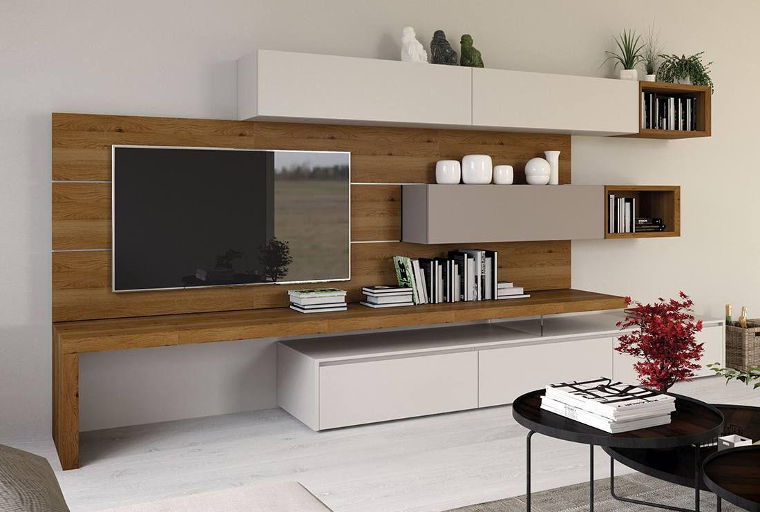 Spessori 01 mobile soggiorno con pianale in legno casa for Mobili contenitori soggiorno