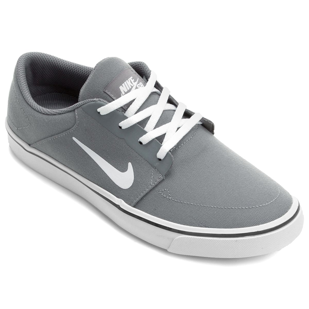 Tênis Nike Sb Portmore Cnvs Masculino Branco e Cinza