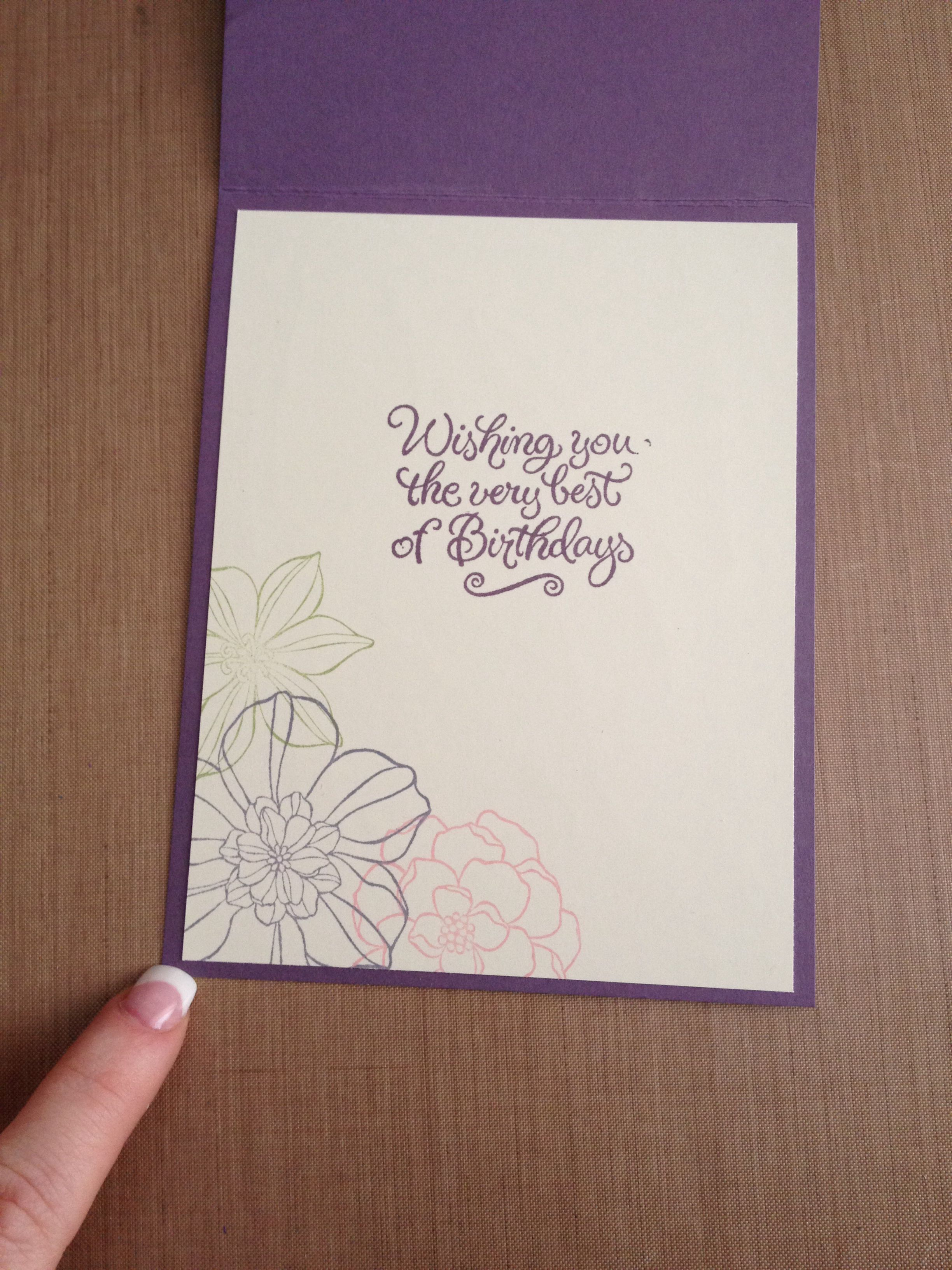 Flower birthday card inside flower birthday cards