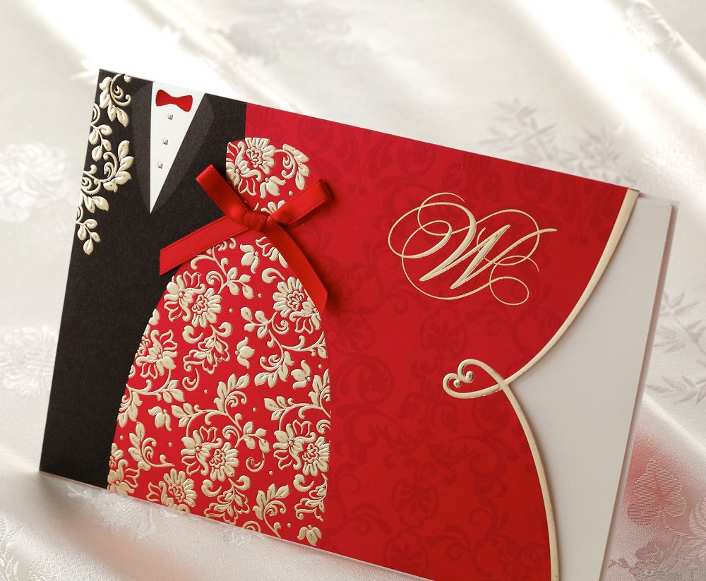 unique Chinese style wedding invitation via www.happyinvitation.com ...