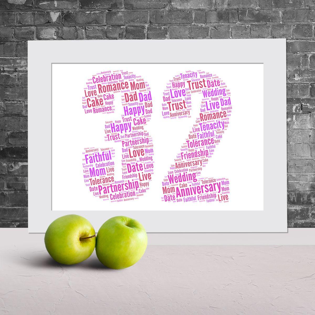 32nd anniversary word art Anniversary words, Words, Word art