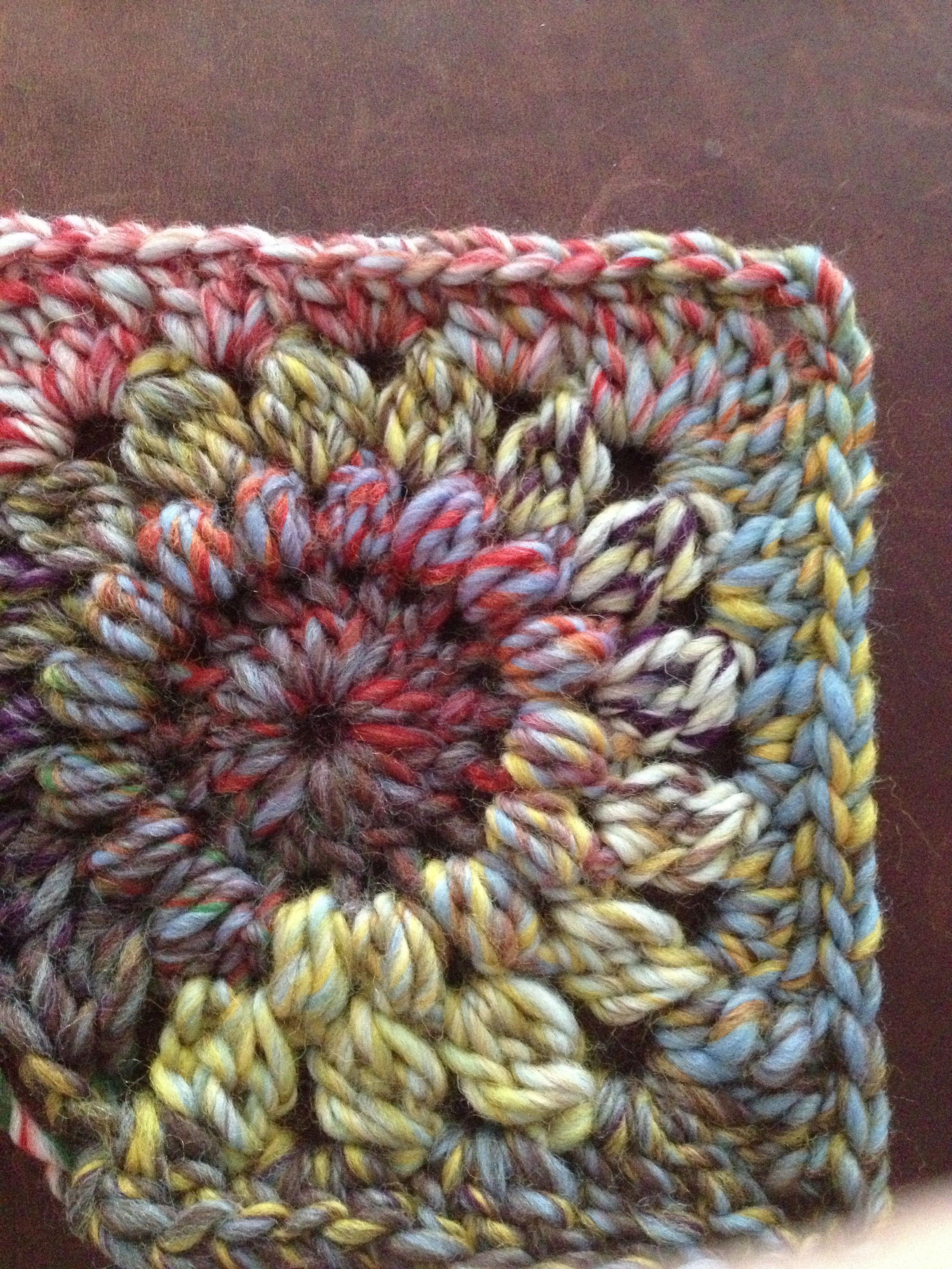 Sunburst Granny Square in Patons ColorWul