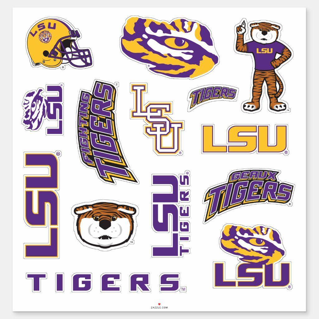 LSU Louisiana State University Logos Sticker