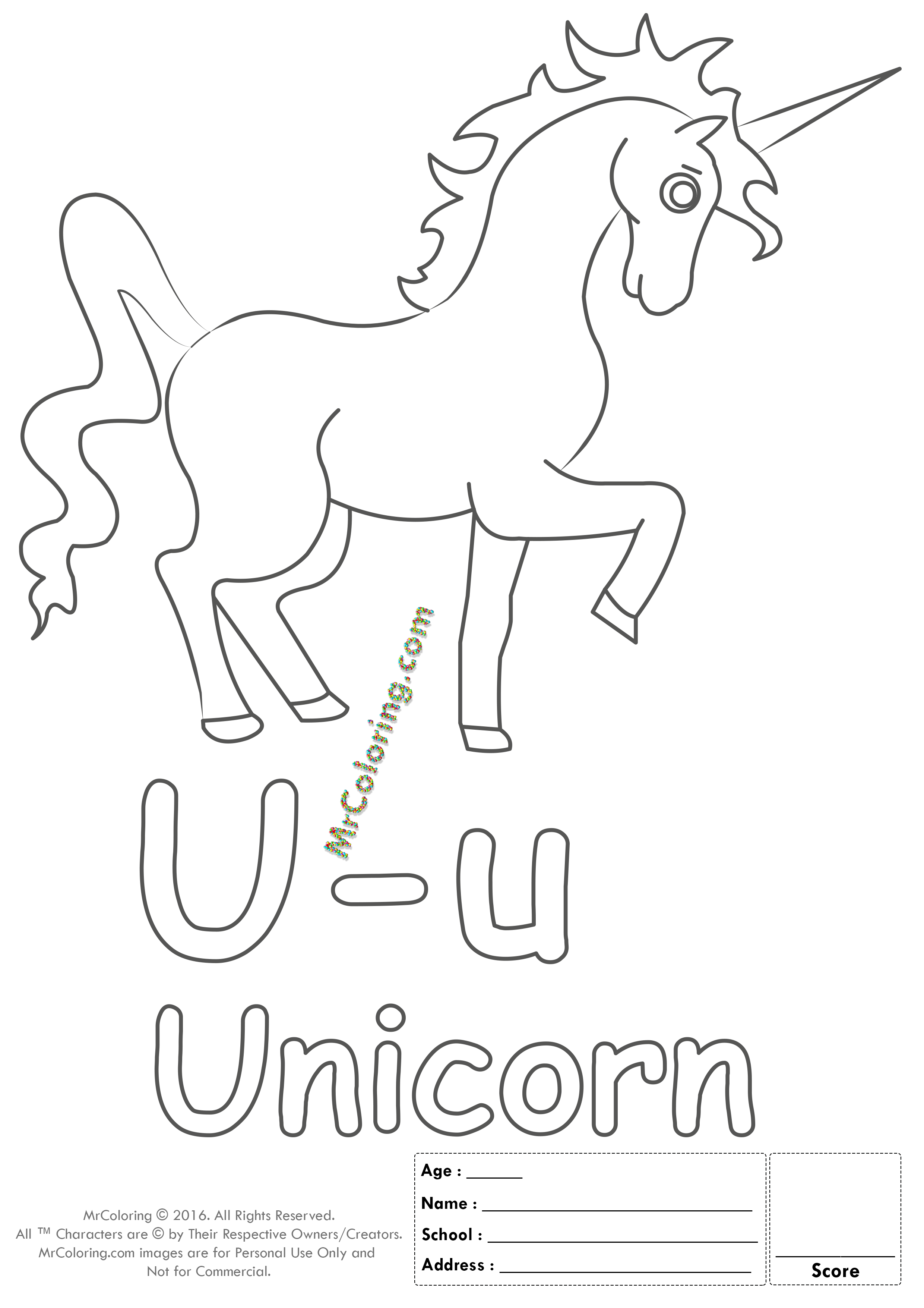 Alphabet Letter Uu Printable Coloring Pages Coloring