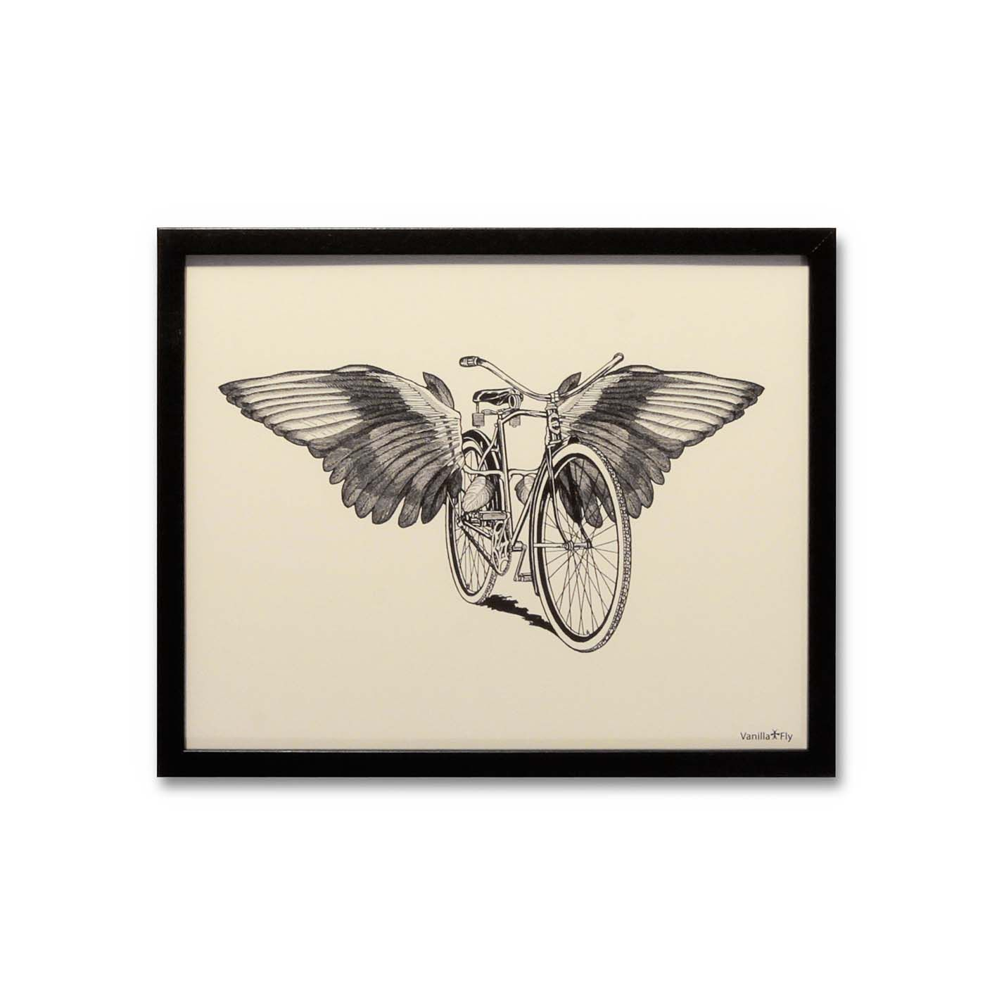 Affiche - Bicycle with wings