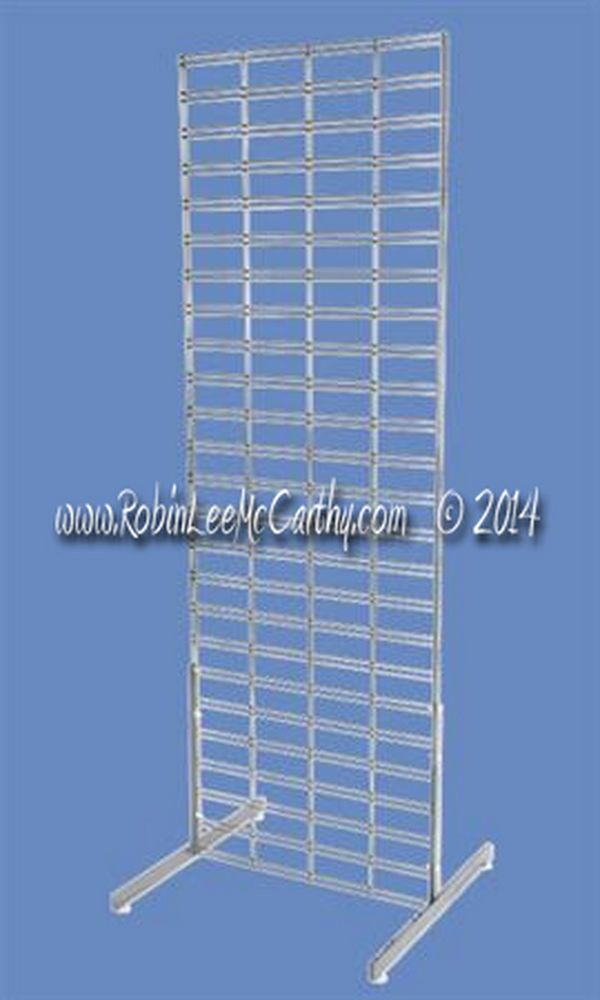 Wire Grid Gondola Unit Panel Stand Display Racks Slat Grid with Legs ...