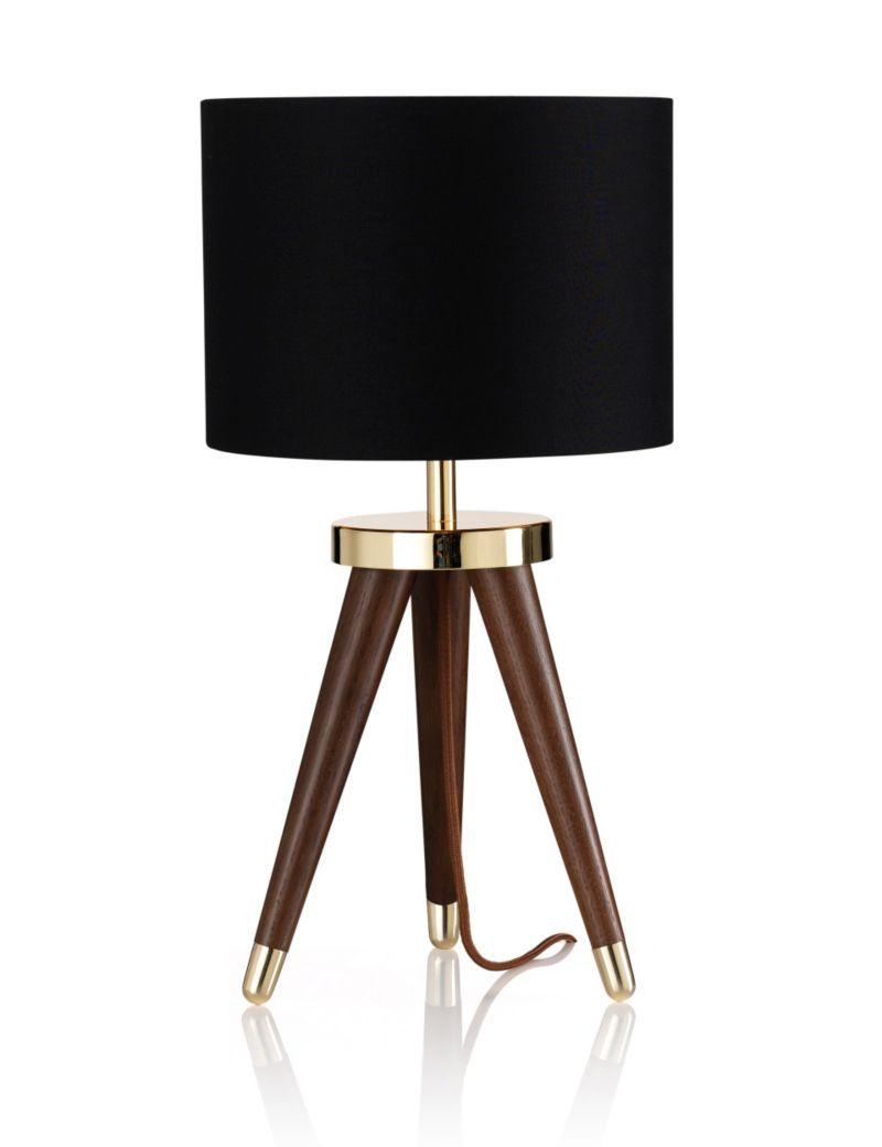 Gold & Black! Tribe Tripod Table Light   M&S   Lighting   Pinterest ...