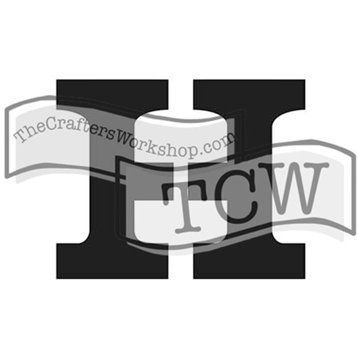 "Crafter's Workshop Greek Letters 4""x3"" - Eta"