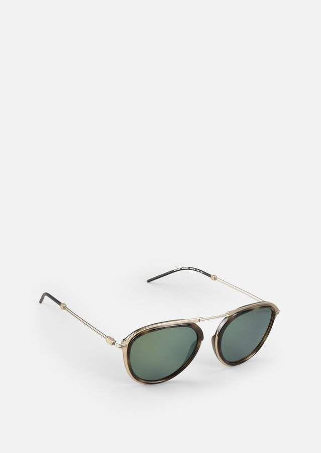 2ca75b86f26 Emporio Armani Metal Sunglasses With Coloured Lenses