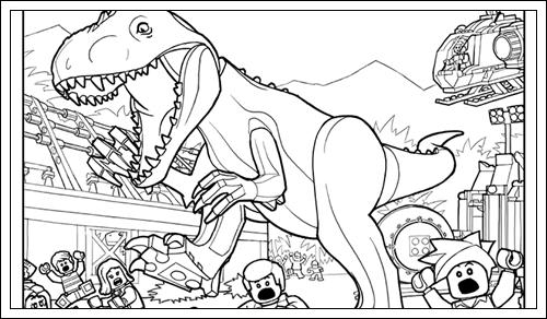 Ausmalbilder Jurassic World zum Ausdrucken   Lego coloring ...