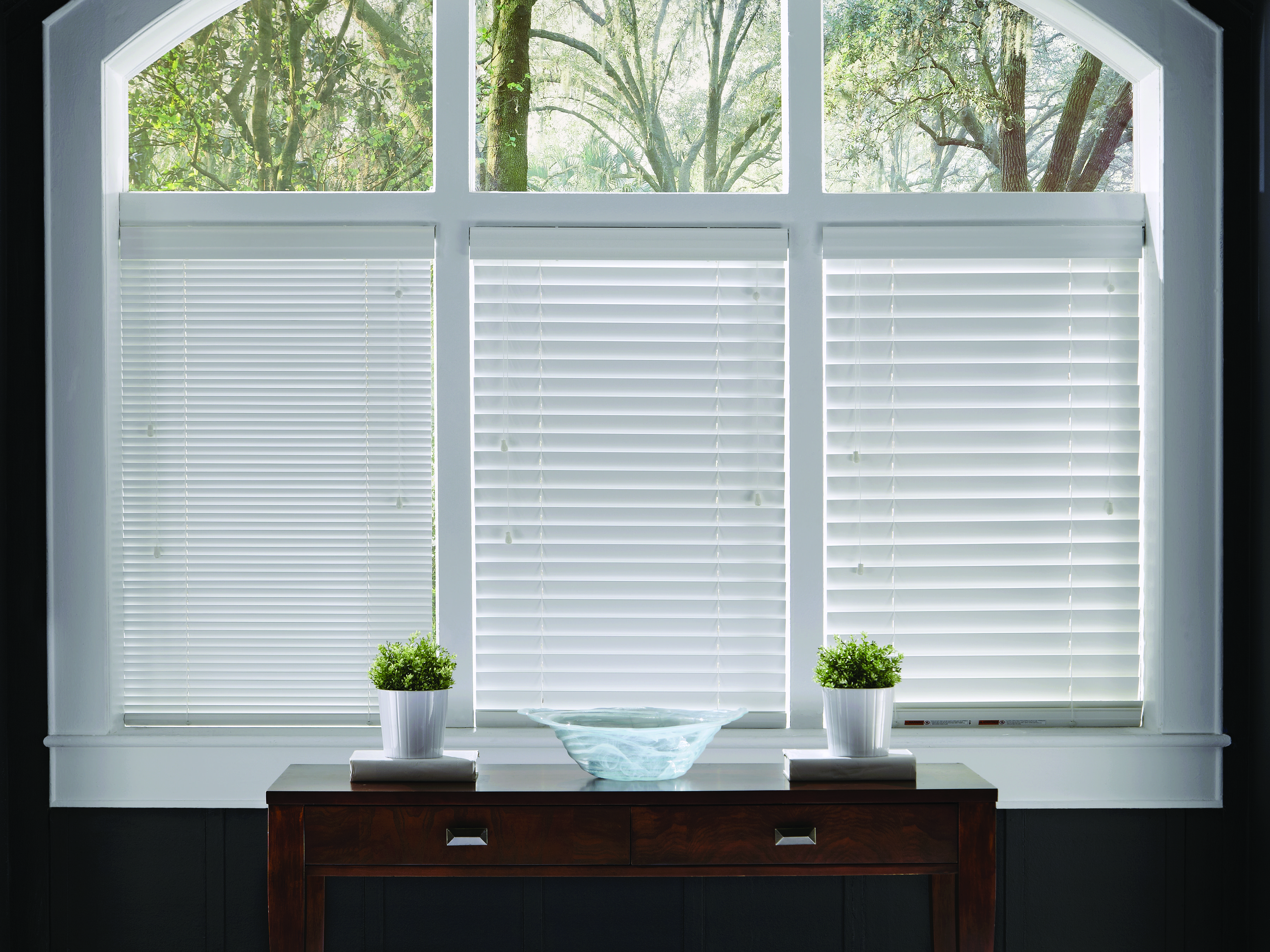 compare lafayette's heartland wood blinds slat and louver size