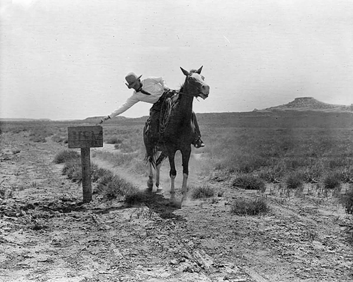 A Cowboy Mails A Letter On The Ls Ranch In The Texas Panhandle