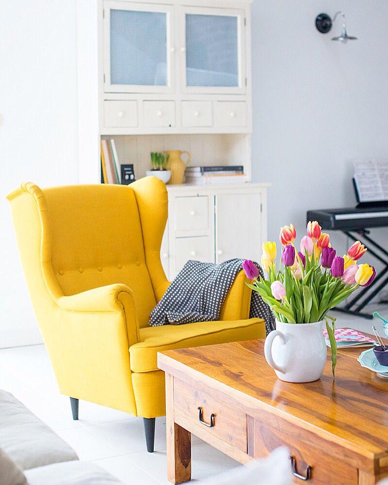 Yellow Chair Mintyhouse Ikea Strandmon Ikea Chair