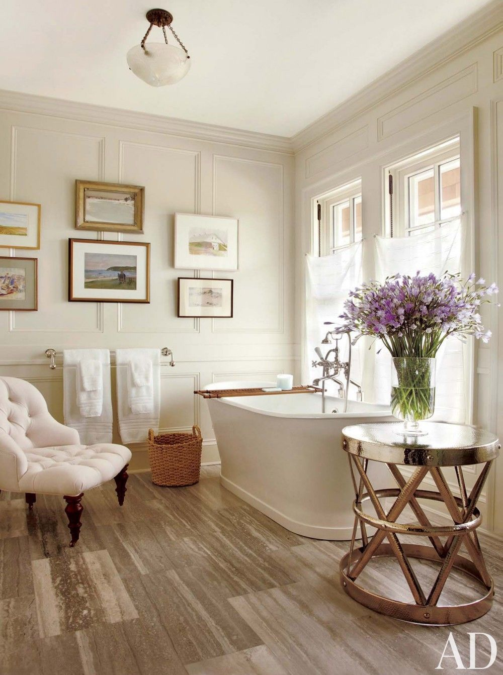 Lovely Contemporary Bathroom By Carrier And Company Interiors And John David Rose  In Southampton, New York