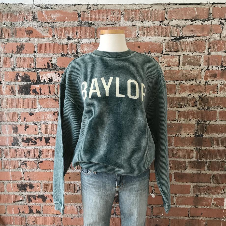 buy popular 55a13 868ee Baylor Corded Crew Sweatshirt