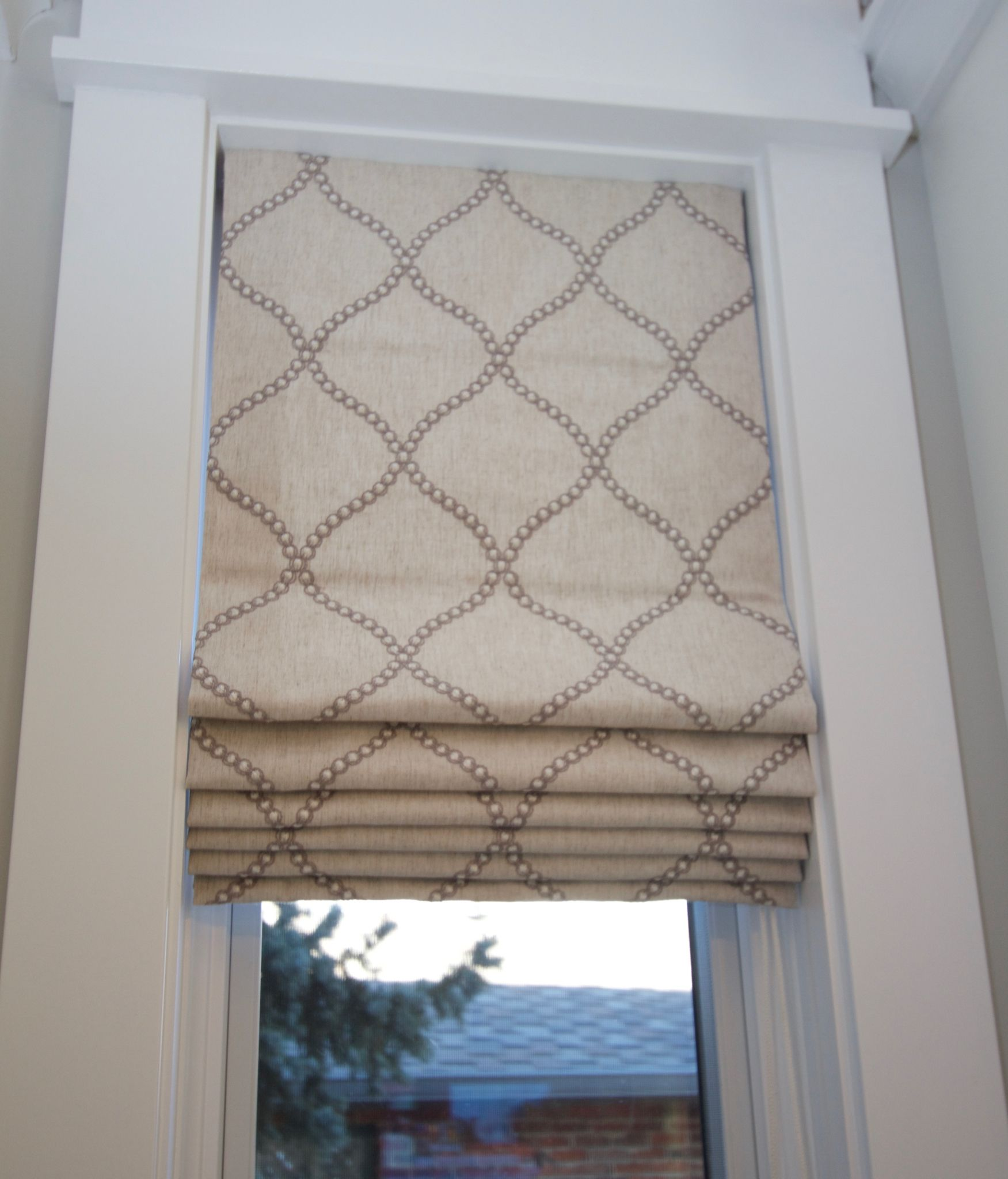 Roman Shade For Kitchen Door