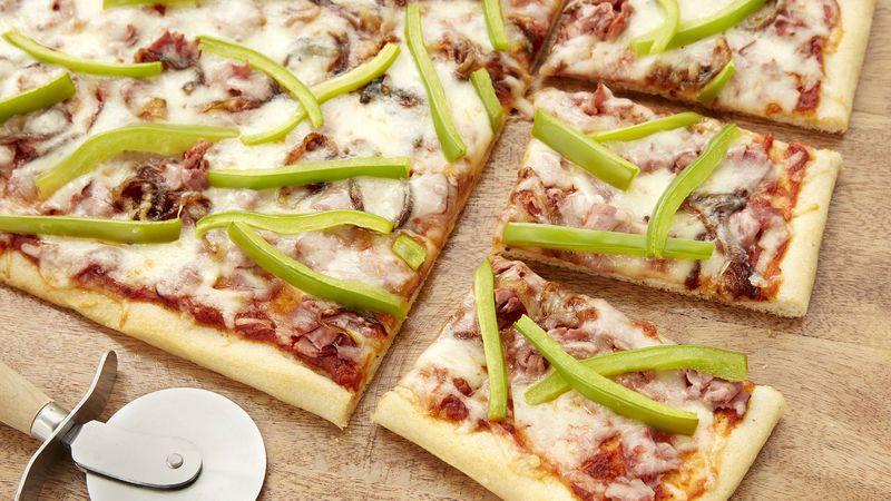 Philly Cheesesteak Pizza #pioneerwomannachocheesecasserole