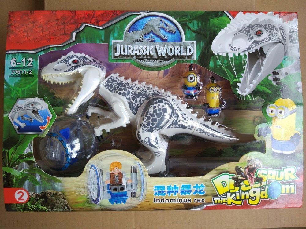White Jurassic World Building Toys Gray Indominus Rex #22