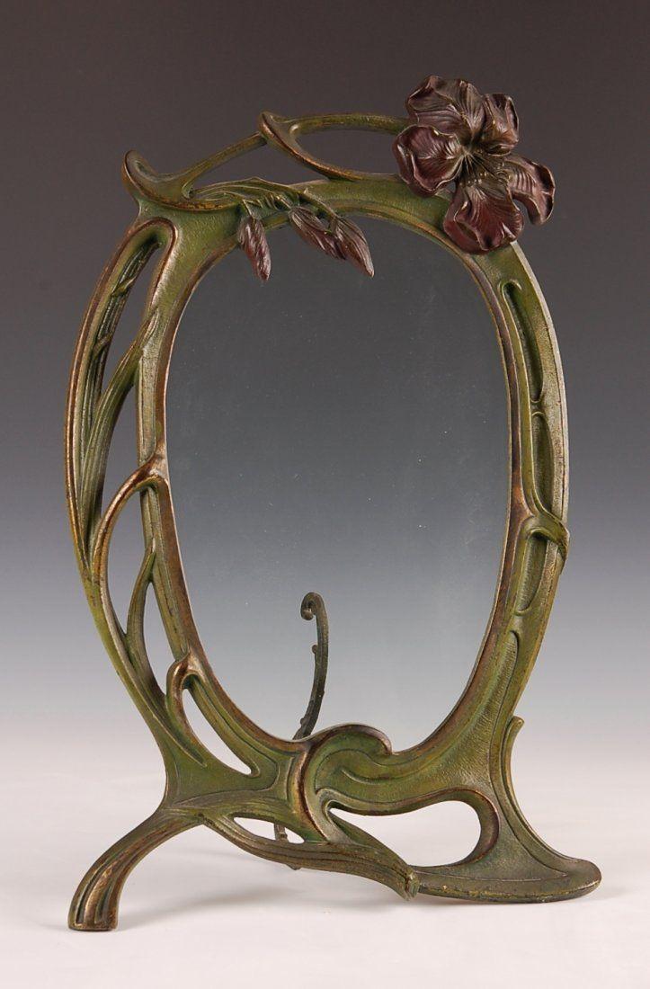 A Classic Cast Iron Art Nouveau Frame Circa 1900 Art