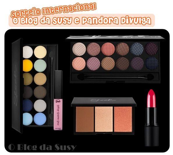 Sorteio Internacional Sleek: Pandora & O blog da Susy    (International Giveaway - Pandora & Susi's Blog)