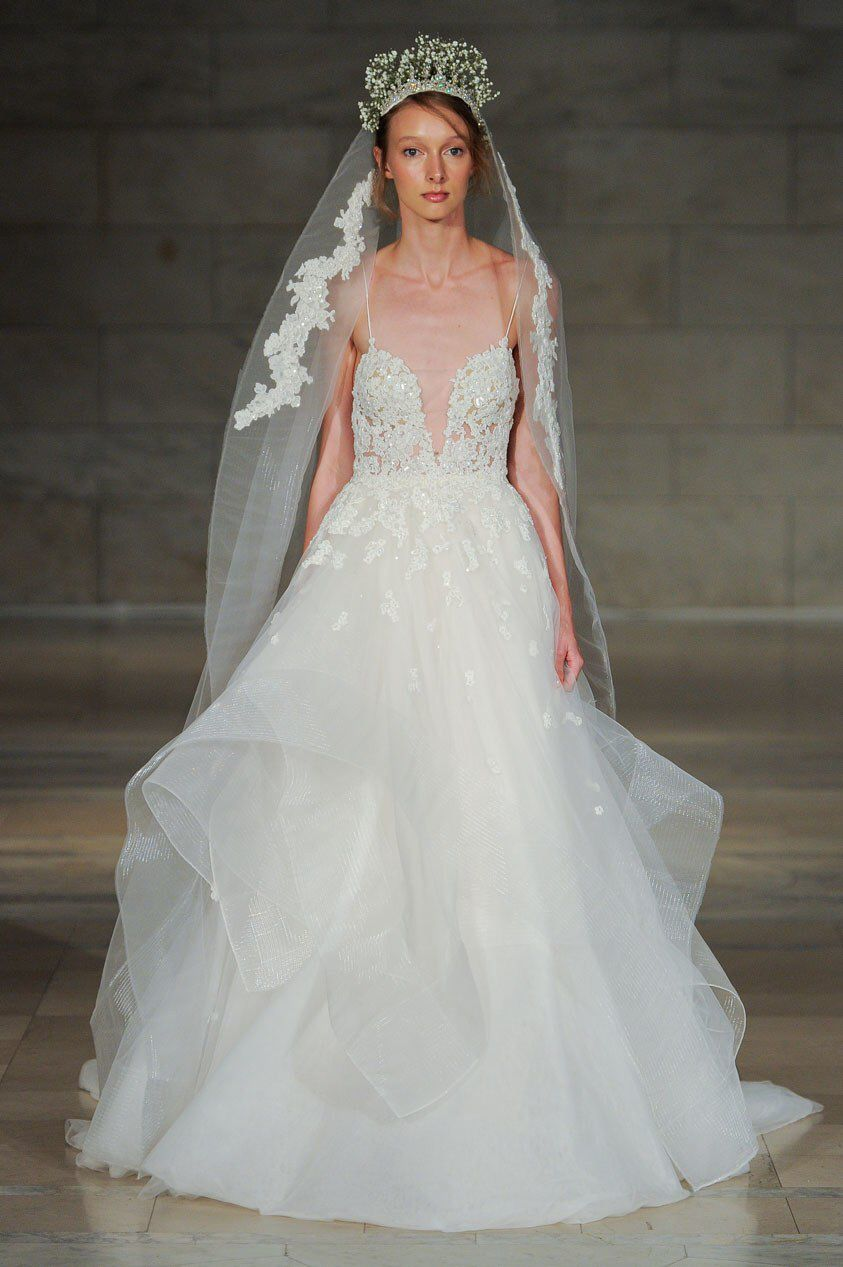 Reem acra bridal fall fashion show collection here comes the