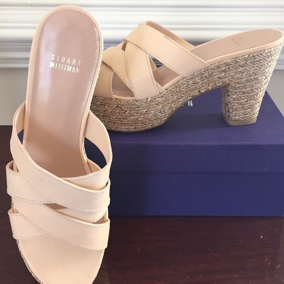 e4b4b2f70bd1 Stuart Weitzman Slide Rules rope wedge sandals You have found the perfect  summer sandal! These