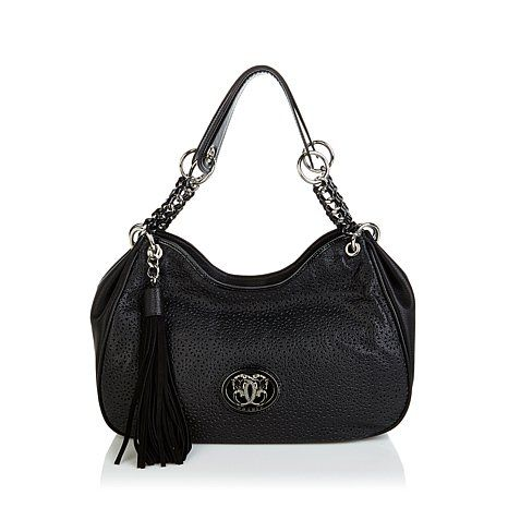 Sharif Perforated Leather Bag at HSN.com