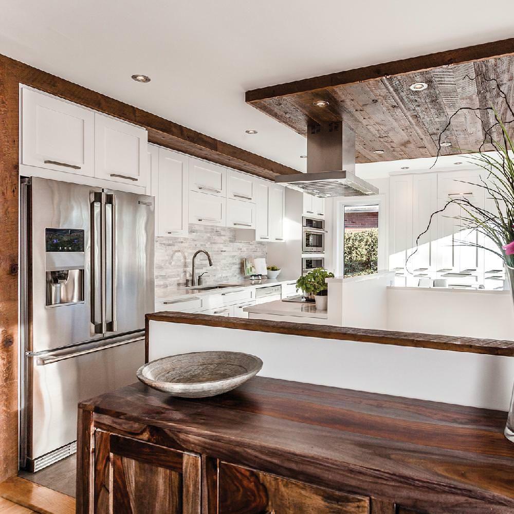 Design cuisines cartier montr al qu bec for Armoire blanche cuisine