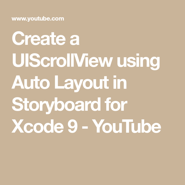 Create a UIScrollView using Auto Layout in Storyboard for