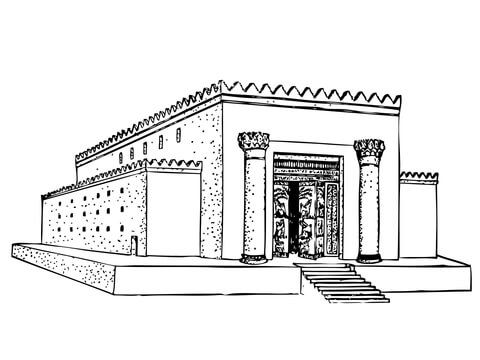 Solomon Temple Coloring Page From King Solomon Category Select