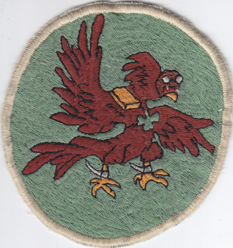 Original WWII 65th Fighter Squadron Patch Embroidered Theater Made Italy