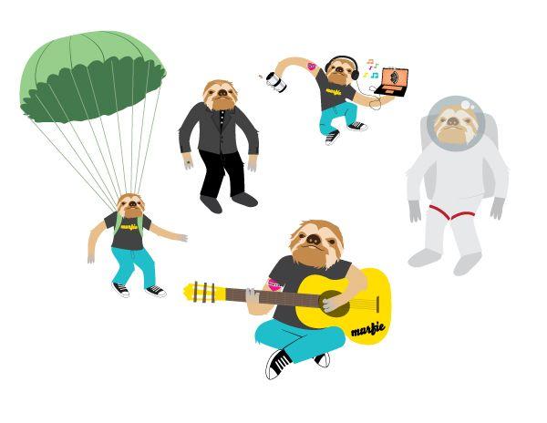 sloth illustration - Google 검색