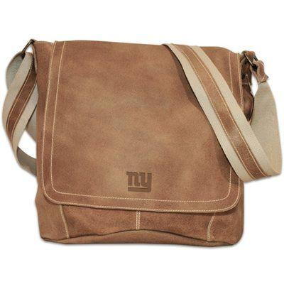 New York Giants Distressed Vertical Simple Messenger Bag – Tan