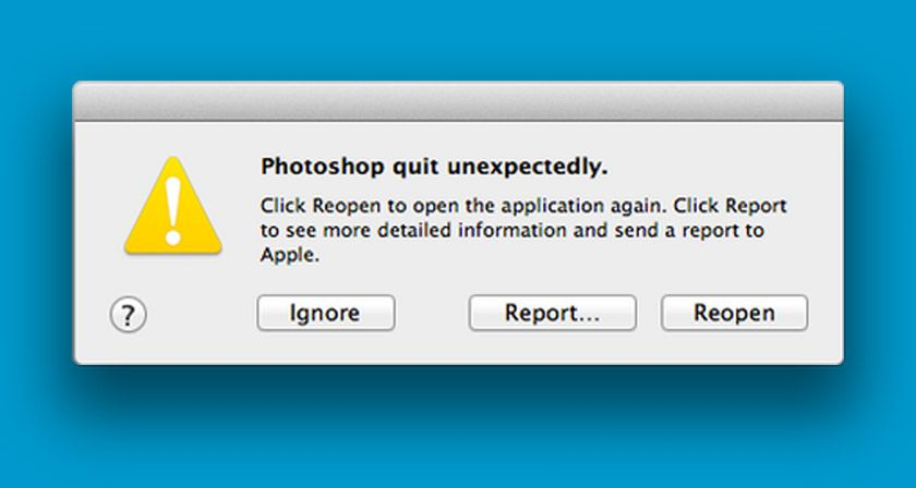 Photoshop quit unexpectedly